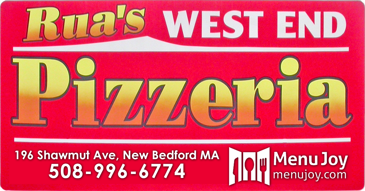 Complete Menu For Rua S West End Pizzeria New Bedford